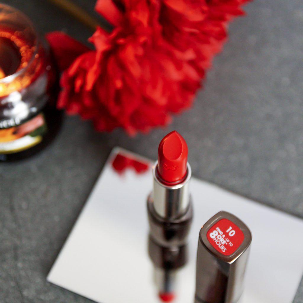 Popolni odtenek rdeče šminke Deborah Milano 010, Notino.si
